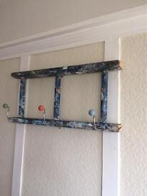 Trendy Up Cycled painters ladder hook shelf