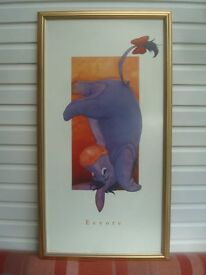 Walt Disney World Eeyore Framed Print 21 inches wide x 39 inches tall