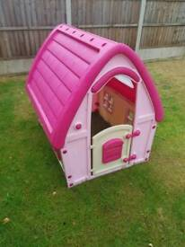 Pink fairy play house