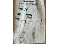 Brand new 3 seater garden swing missing box