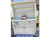 Beautiful vintage solid oak kitchen dresser refurbished by gems in the Attic sold