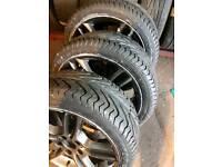 "Genuine 18"" 225/40/18 5x120 Bmw 120d 320d double spoke M-Sport alloys + New tyres"