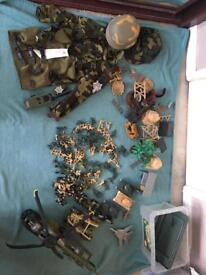 Army dress up figures and accessories