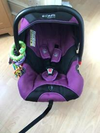 Purple iSafe come with car seat,carrycot,2footmuffs, 2 raincovers good condition £70 pick up only