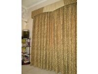 "Curtains 104"" by 90"" with pelmet 89"""