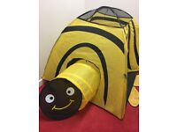 kids play bee tent yellow and black in good condition used 2 months pet and smoke free