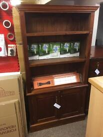 Solid mahogany bookcase / cabinet * free furniture delivery *