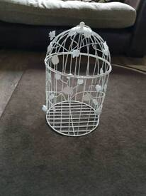 Rustic white birdcages (8 off)