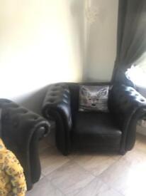 Reduced quick sale chesterfiels plus armchair