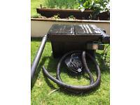 Large pond filter and pump set