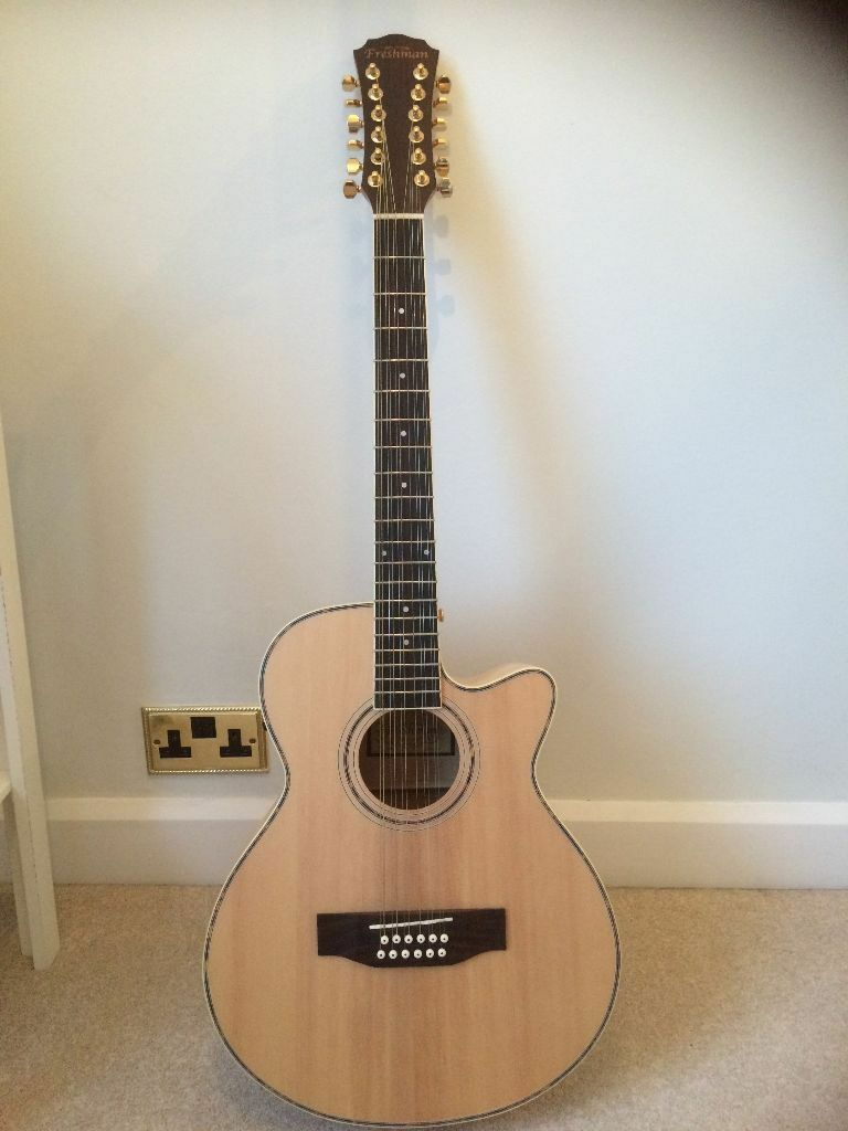 12 string acoustic guitar freshman fa1am12 250 ono cost 400 new in colyton devon gumtree. Black Bedroom Furniture Sets. Home Design Ideas