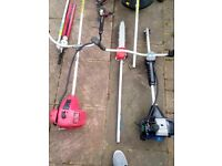 2 x petrol strimers with attachments