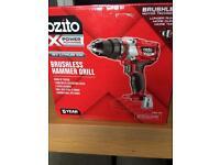 Ozito brushless hammer drill new