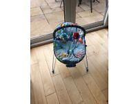Baby's seat suitable 0 - 6 months. Blue. Perfect condition. Hardly used