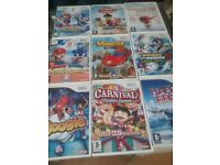 Wii games.. Age 3 +. 9 games all used but in good condition