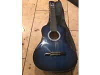 3/4 Ashton Guitar - Blue