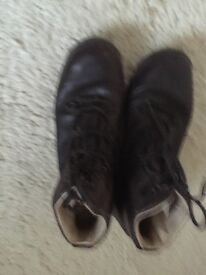 Ladies Brascher Leather Walking Boots Size 7