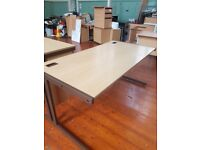 Various office desks in various wood effect and sizes loads of multiples the same