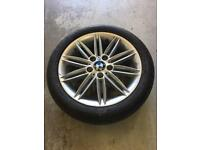 BMW 118 Alloy Wheel with runflat 205/50/17 5mm