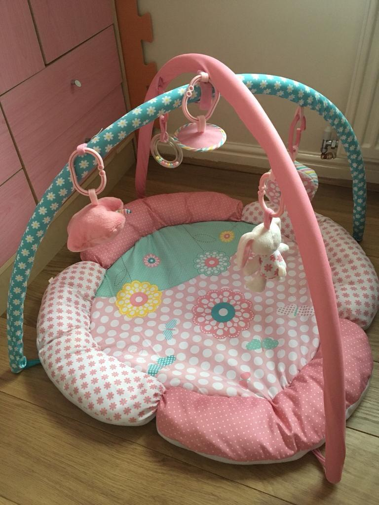Baby pink play gym play mat Mothercare