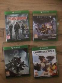 Xbox 1 games 4 in total