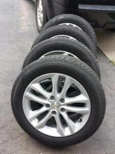 BRAND NEW TAKE OFF 2017 CHEVY MALIBU FACTORY OEM 17 INCH WHEELS WITH HIGH PERFORMANCE GOODYEAR  225 /  55 / 17 TIRES