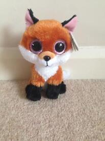 "TY beanie boo 6"" Slick the Fox."