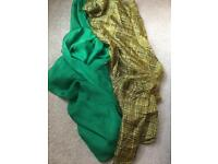 Amazing scarves (silk/polyester)