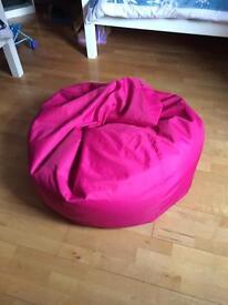 Pink beanbag