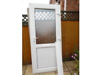 UPVC DOUBLE GLAZED WHITE FRONT DOOR