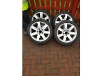 Bmw 17inch se 225/45/r17 used and scraped tyres just legal on 2
