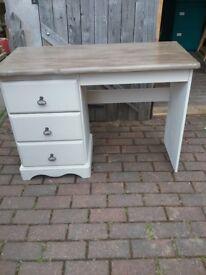 Painted wooden desk/dresser