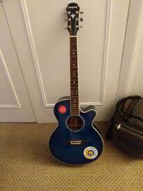Aria Electro Acoustic Guitar w/ free case & Capo!