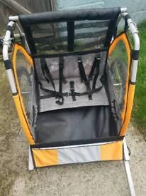Halfords double bike buggy trailer