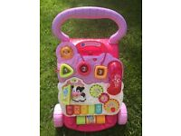 Vtech pink first step baby walker