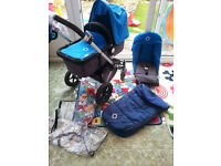 bugaboo cameleon in super condition with footmuff and raincover