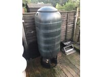 250 Litre Extra Large Slimline Water But twith Tap and Child Proof Lid **USED**
