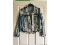 White and Blue Denim Jacket