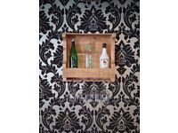 4 bottle and glass rack