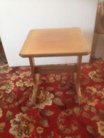 Small wooden display table