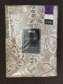 Brand New Dunelm Luxury Lined Eyelet Curtains