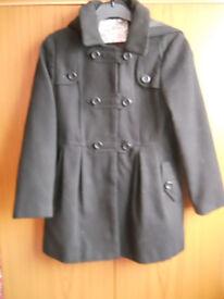 Girl's Coat With Hood - Black