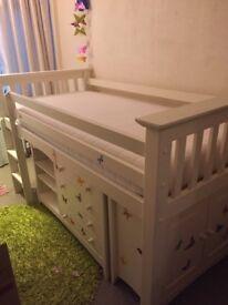 Julian Bowen Cameo sleep station and silentnight memory foam mattress