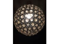 3 Large round silver light shades