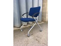 Office / computer / studio chair in blue fabric - very good order.