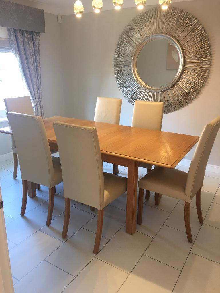 Lichfield Dinning Table And 6 Chairs Bought From Ms