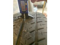 Set of 4 VW T5 Alloy Wheels with tyres
