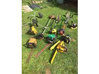 JOBLOT 9 PETROL STRIMMERS and HEDGE CUTTERS