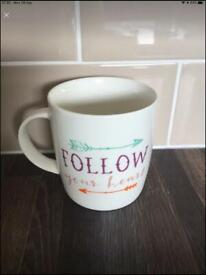 Follow your heart Mugs. Brand new. Can post