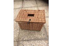 Small Vintage fishing Basket/storage